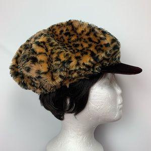 {VINTAGE} LEOPARD MILK BOY CAP